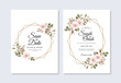Watercolor floral for wedding invitation template