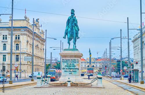 Fototapeta The monument of the Prince of Schwarzenberg in Vienna, Austria