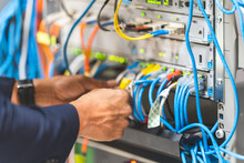 The System Administrator Is Checking Network Server