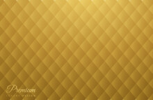 Beautiful Gold Abstract Background With Gold Diamond Abstract Pattern. Business Design. Shining Background. 3D Luxury Flat Style. Vector Illustration Of EPS 10.