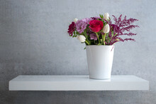 Spring Flowers On Shelf Design