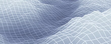 3D Rendered Gray Topographic Mountain Grid.