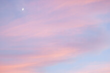 Dreamy Sunset With Moon