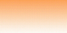 Abstract Orange Background With Dots