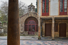 Chapel Of San Pedro In The Emblematic Street Of Rivero, In Avilés, Asturias (Asturies)