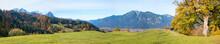 Alpine Landscape Above Spa Town Garmisch-Partenkirchen, Upper Bavaria In Autumn