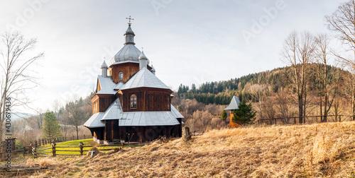 Fototapeta  Cerkiew świętego  Mikołaja w Hoszowie, Bieszczady, Polska / Saint Nicholas Orthodox Church in Hoszów, Bieszczady, Poland obraz