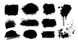 Collection of grunge vector hand drawn elements
