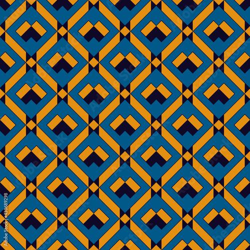 Tapety Eklektyczne  wzor-siatki-diamentowej-etniczny-plemienny-nadruk-na-powierzchni-ornament-geometryczny-powtarzajace-sie-tlo-w-romby