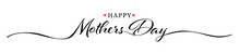 Happy Mothers Day Hand Drawn Lettering Isolated Illustration Vector