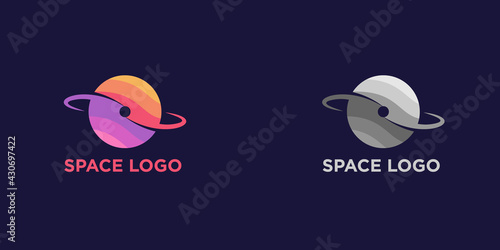 Fotografie, Obraz Illustration vector graphic of abstract planet space logo design template illustration