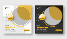 Summer Season Sale Banner Social Media Post