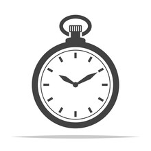 Pocket Watch Icon Vector Isolated