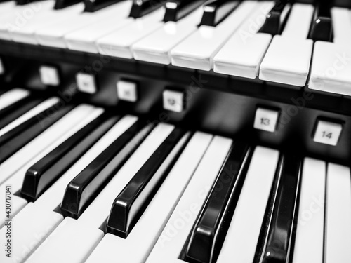 Canvas-taulu オルガンの鍵盤