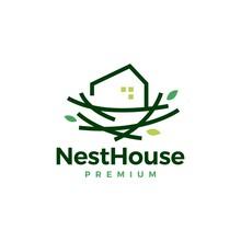 Nest House Home Logo Vector Icon Illustration