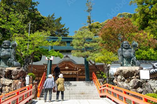Fototapeta Worship hall of Kiyoshi Kojin Seichoji temple in Takarazuka, Hyogo, Japan obraz