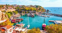 A Harbor Filled With Water. Turkey Tour Package Travel Ephesus Adventure. High Quality Photo
