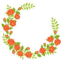 Apricot Color Rose Decoration - Wreath