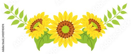 Foto Sunflower decoration - Bended line