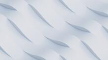 White Stripes In Waves. 3D Illustration