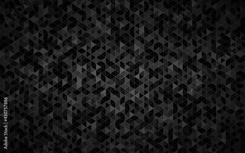 Fototapeta Abstract triangle background with black triangles with different shades of grey and white outlines. Mosaic look. Modern vector texture illustration obraz
