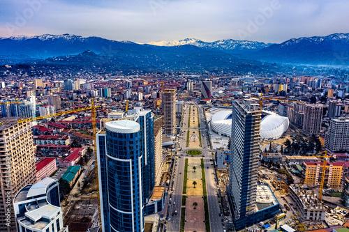 Batumi, Georgia - April 28, 2021: Alley of Heroes Fotobehang