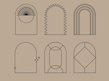 Vector Set Of Design Elements And Shapes For Abstract Backgrounds And Modern Art -