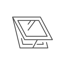 Roof Window Line Outline Icon