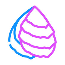 Oyster Ocean Color Icon Vector. Oyster Ocean Sign. Isolated Symbol Illustration