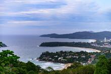 Landscape View Of  Karon Viewpoint In Phuket Thailand By This Viewpoint, We Can See The 3 Major Beaches Of Phuket, Kata Noi, Kata Yai And Karon Beaches.
