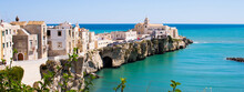 View Of Vieste With The Church Of San Francesco Gargano, Puglia, Italy