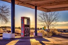 Gas Pump At Abandoned Gas Station