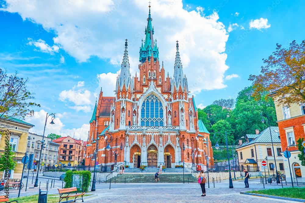 Fotografie, Obraz The beautiful St Joseph Church in Krakow, Poland