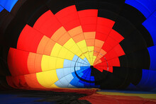 Colored Figure Formed Inside A Hot Air Balloon