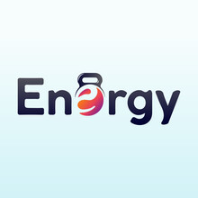 Energy Logo Design With Fitness Gym Icon