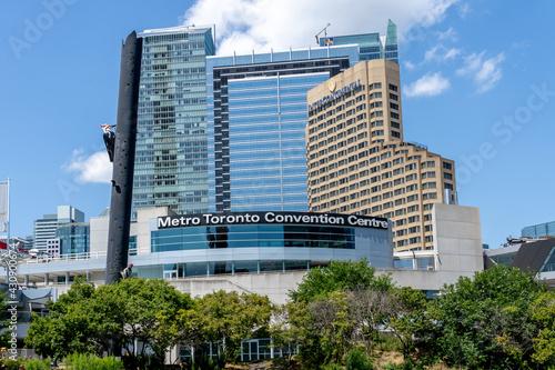 Fototapeta premium Toronto, Canada - July 31, 2019: Metro Toronto Convention Centre in Toronto, Canada.