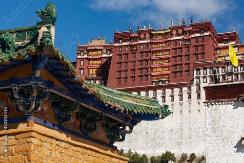 Stampa su Tela The Potala Palace - Lhasa - Tibet
