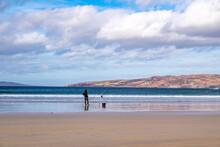 Sea Fishing On Narin Beach By Portnoo - Donegal, Ireland.
