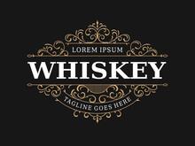 Whiskey Label Vintage Luxury Ornamental Logo