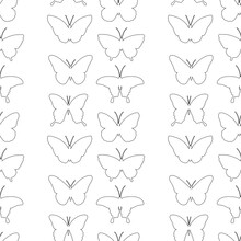 Seamless Pattern Graphics Black White Coloring Vector Illustration