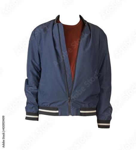 Bomber jacket and sweater isolated on white background Fototapet
