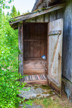 Old Outhouse In The Countryside