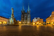 canvas print picture - Church of the Assumption, Ressel''s Square, Chrudim - Czech Republic