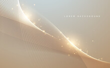 Abstract Gold Light Lines Background