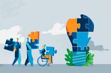 Persone Che Collaborano Per Costruire Nuove Idee Per La Società