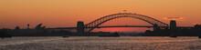 Sydney Harbor Bridge Just After Sunset.
