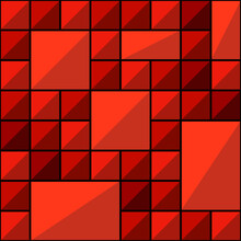 Red Tile Pattern. Vector Seamless Ornament.