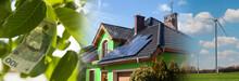 Renewable Energies Concept - Collage Banner.