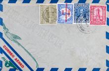 Briefumschlag Envelope Vintage Retro Alt Old Gestempelt Used Frankiert Cancel Luftpost Airmail Air Mail 1931 Vogel Bird Guatemala Correo Aéreo Paa Coffee Statue Mann Gebäude Building