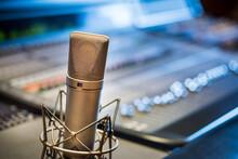 Professional Microphone In Studio Enviroment